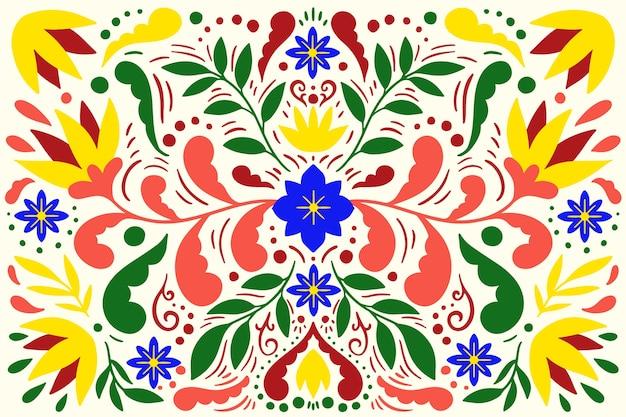 Fond mexicain plat coloré