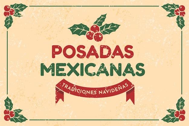 Fond de mexicaines posadas vintage