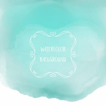 Fond mignon avec des aquarelles, couleur bleue
