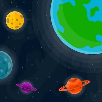 Fond mignon de l'espace. illustration