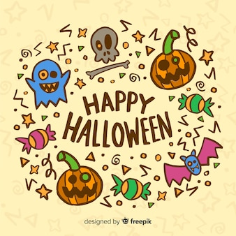 Fond mignon de halloween heureux