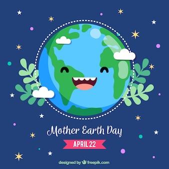 Fond mignon pour la journée de la terre mère