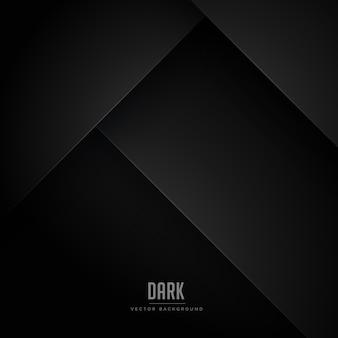 Fond minimal noir avec formes abstraites