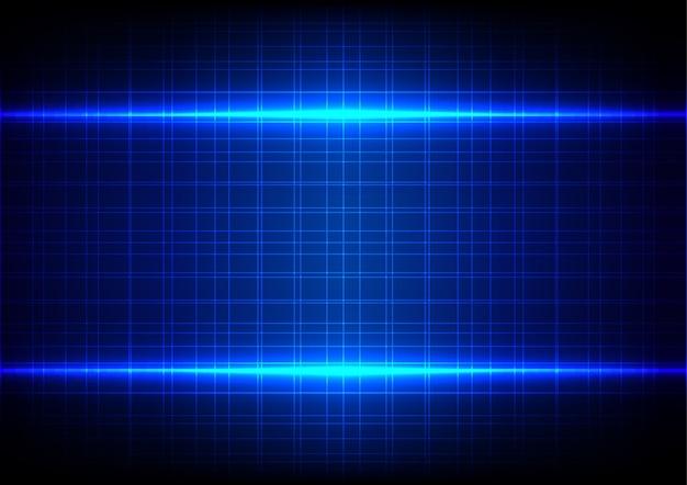 Fond de modèle abstrait effet de lumière bleue