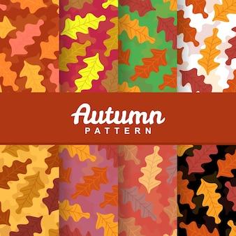 Un fond de modèle d'automne automne modèle sans couture de feuilles