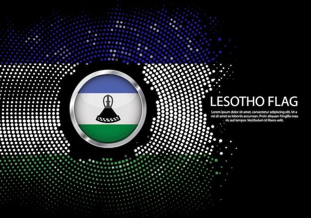 Fond modèle dégradé demi-teinte du drapeau du lesotho.
