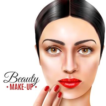 Fond de modèle de salon de beauté