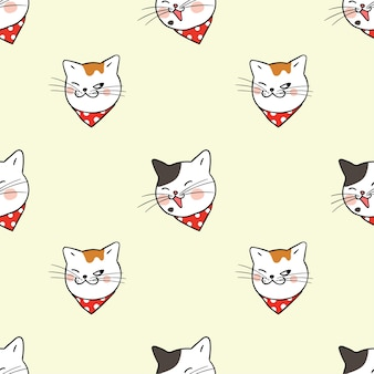Fond de modèle sans couture chat drôle