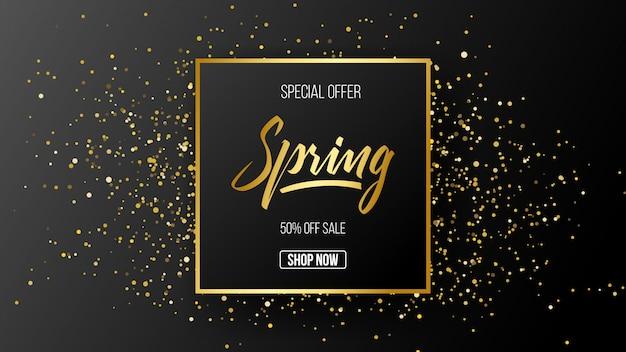Fond de modèle de vente offre spéciale printemps