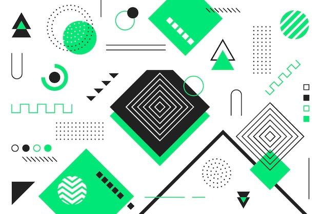 Fond de modèles géométriques au design plat