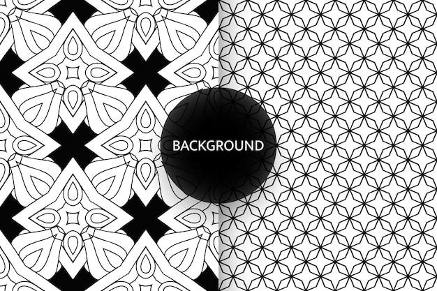 Fond de modèles sans couture noir et blanc