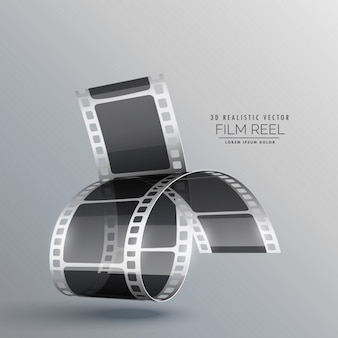 Fond moderne avec 3d bande de film réaliste