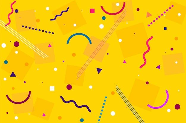 Fond moderne abstrait jaune