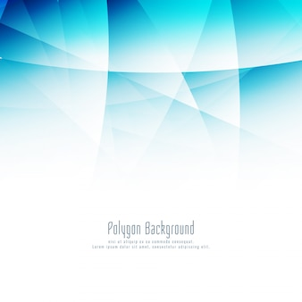 Fond moderne abstrait polygone bleu
