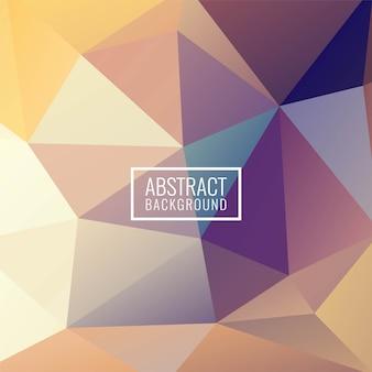 Fond moderne abstrait polygone géométrique coloré
