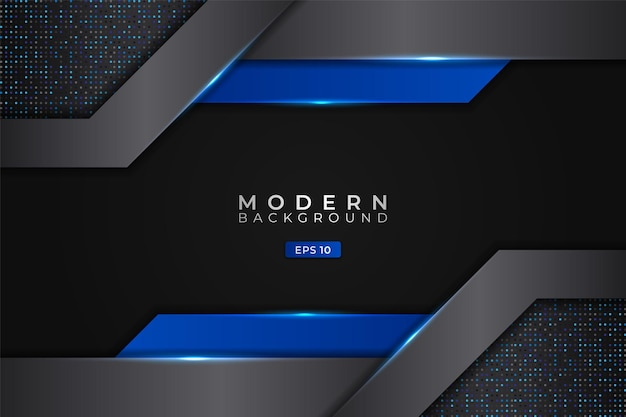 Fond moderne abstrait technologie futuriste 3d réaliste rougeoyant bleu métallique