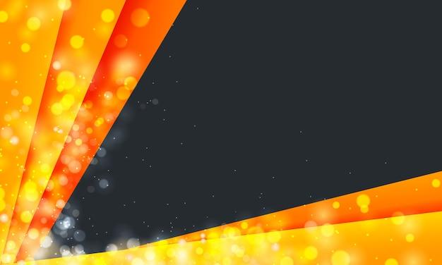 Fond moderne avec des bordures orange vif et des paillettes