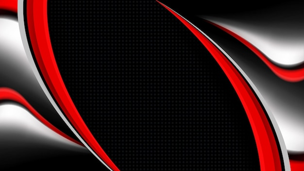 Fond moderne avec calque de chevauchement de vecteur rouge et blanc sur un style abstrait noir et noir