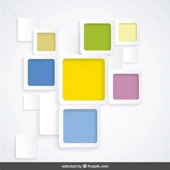 Fond moderne avec des carrés arrondis