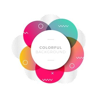 Fond moderne avec des cercles colorés