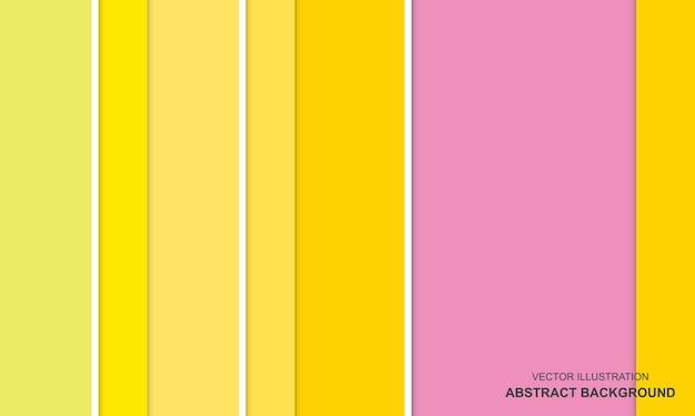 Fond moderne de couleur jaune et rose