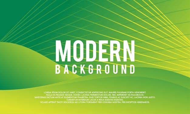 Fond moderne créative vague abstrait vert lisse