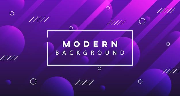 Fond moderne dégradé violet géométrique