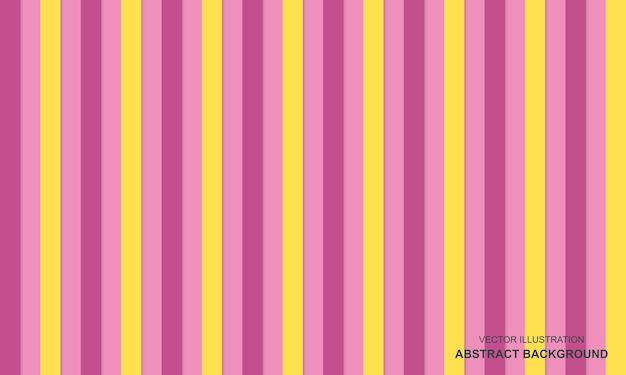 Fond moderne avec un design de lignes roses et jaunes