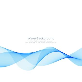 Fond moderne élégant vague bleue