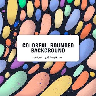 Fond moderne avec des formes arrondies colorées