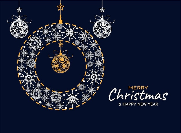 Fond Moderne Génial Joyeux Noël Vecteur gratuit