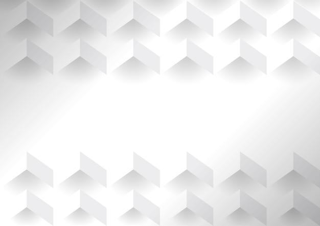 Fond moderne géométrique 3d blanc
