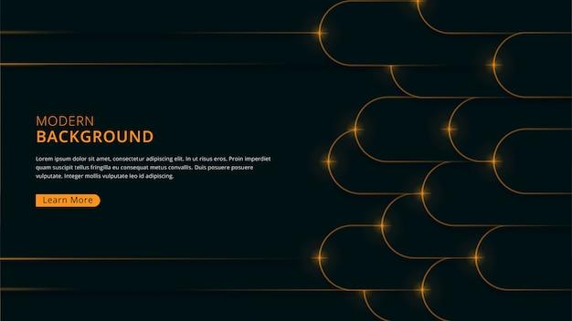 Fond moderne de luxe avec forme géométrique arrondie thème de couleur marine foncé vecteur premium