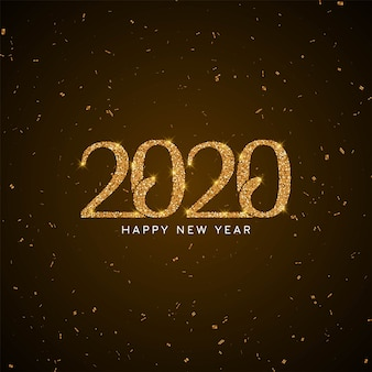 Fond moderne de nouvel an 2020 avec texte scintillant