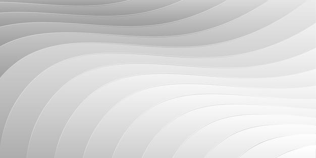 Fond moderne ondulé futuriste blanc