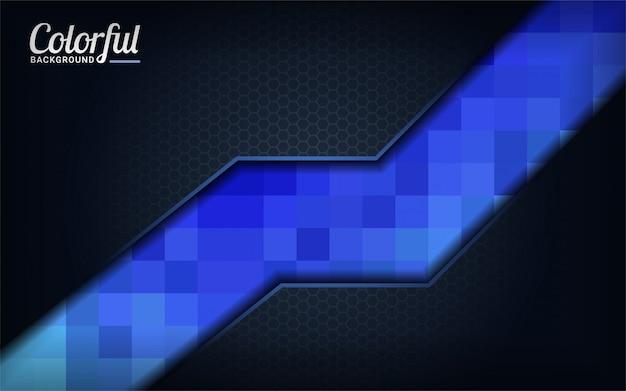 Fond moderne de pixel bleu coloré. abstrait sombre