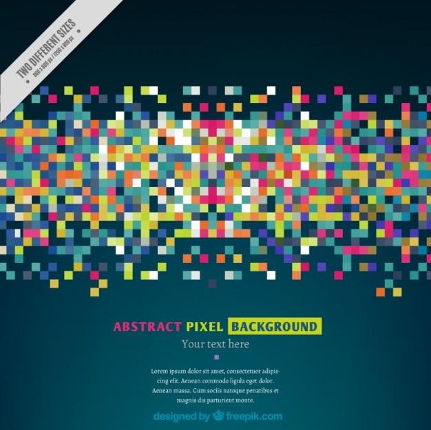Fond moderne de pixels colorés