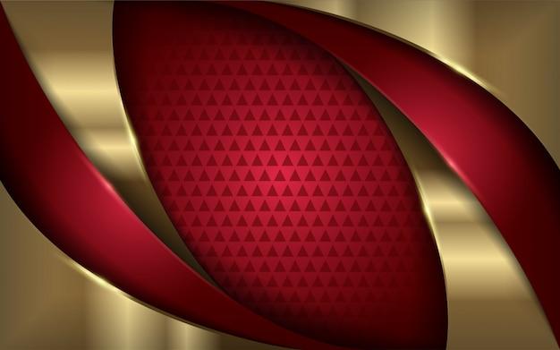 Fond moderne rouge et or élégant