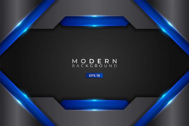 Fond moderne technologie futuriste abstraite réaliste rougeoyant bleu métallique