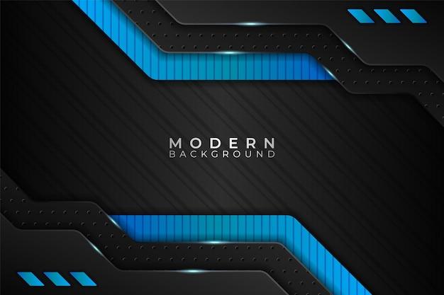 Fond moderne technologie réaliste bleu diagonal futuriste avec métallisé foncé
