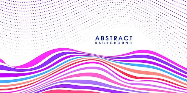 Fond moderne vague colorée abstraite