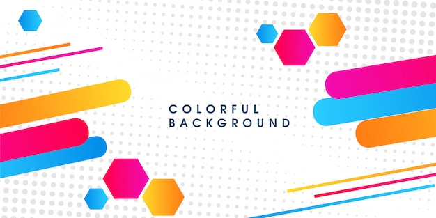 Fond moderne de vecteur de demi-teintes colorées