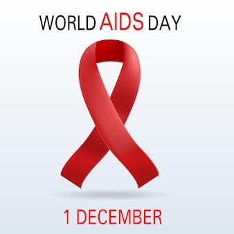 Fond mondial concept journée du sida. illustration réaliste du fond de concept mondial sida journée vectorielle pour la conception web