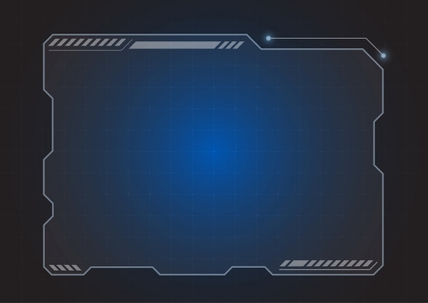 Fond de moniteur hologramme futuriste