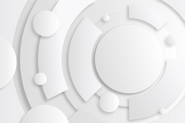 Fond monochrome blanc géométrique