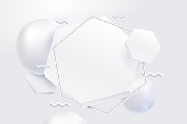 Fond monochrome blanc de style géométrique