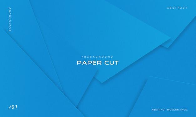Fond monochrome minimaliste découpé dans du papier