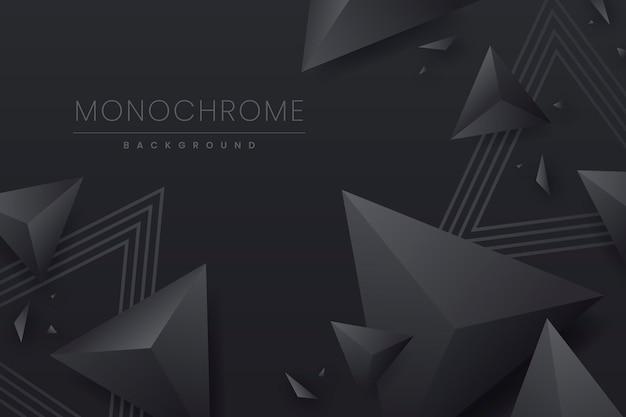 Fond Monochrome Noir Dégradé Vecteur gratuit