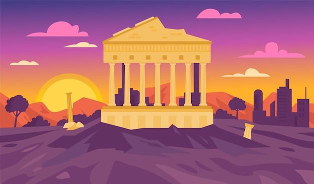 Fond de monuments de la ville pour la vidéoconférence
