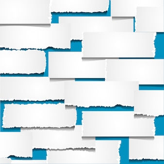 Fond avec des morceaux de papier déchiré